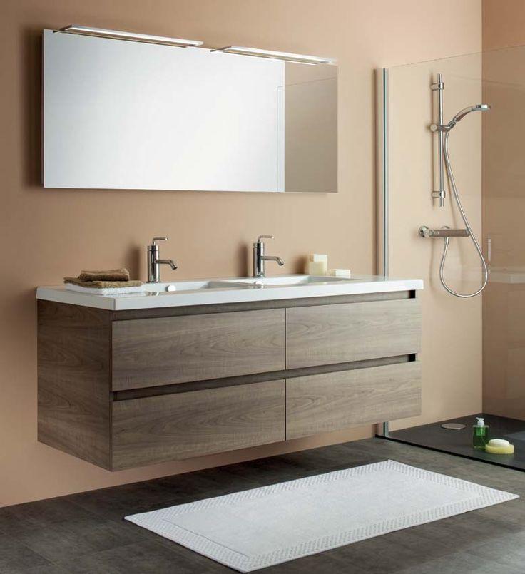 lgante et harmonieuse cette salle de bain beige apportera une touche classique votre intrieur le meuble double vasque fruitier cendr offre plusieurs - Meuble Salle De Bain Beige