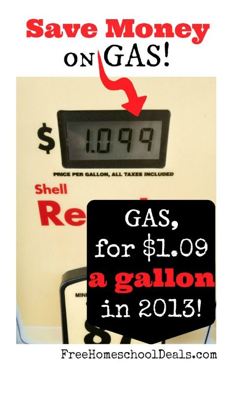 How to Save Money on Gas: Gas, For $1.09 a Gallon in 2013