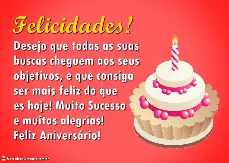 Parabéns E Felicidades Cunhada: 132 Best Images About Aniversário Parabéns On Pinterest