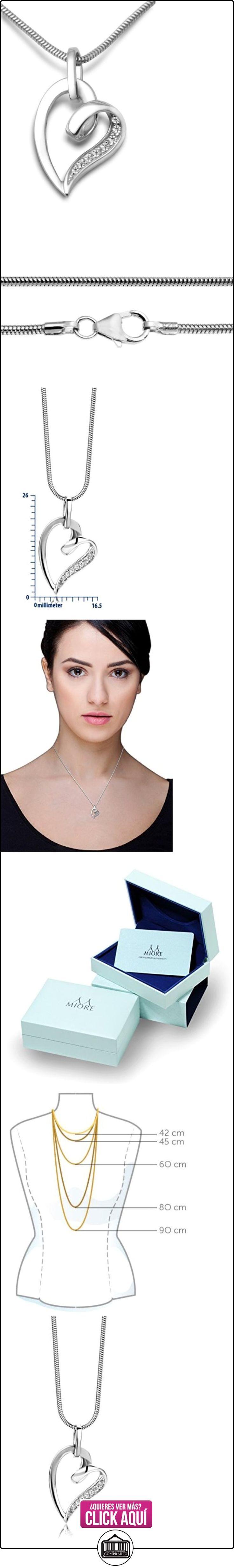 Miore - Collar de plata de ley con circonita en forma de corazon  ✿ Joyas para mujer - Las mejores ofertas ✿ ▬► Ver oferta: https://comprar.io/goto/B007VCZSFC