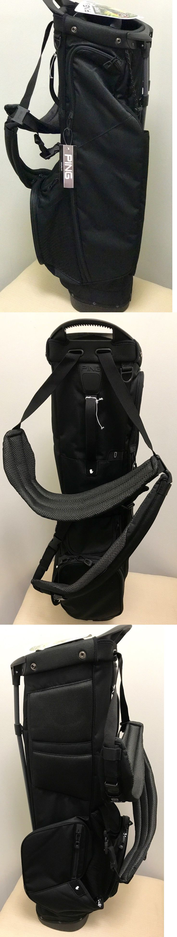 Golf Club Bags 30109: 2017 Ping 4 Series Golf Stand Bag Black No Ping Logos New -> BUY IT NOW ONLY: $169.95 on eBay!