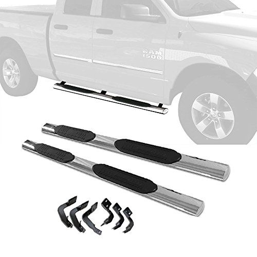 "CDG 5"" Side Step Nerf Bars Rails Running Boards For 2009-2017 Dodge Ram 1500 Quad Cab S/S; Don't Fit for Crew Cab:   Description: /bbrbr For 2009-2017 Dodge Ram 1500 Quad Cab Pickup(with 2 Full Size Front Doors and 2 Half Size Rear Doors) /bbrbr Features: /bbrbr Fitment: For 2009-2017 Dodge Ram 1500 Quad Cab Pickup(with 2 Full Size Front Doors and 2 Half Size Rear Doors); brNote: This item only fits for Quad Cab, don't fit for Crew cab, please pay attention for this.brbr Specifics:/bbr..."