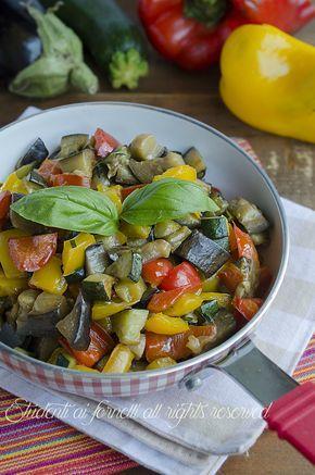 ricetta contorno di verdure saporite miste in padella zucchine patate melanzane peperoni ricetta