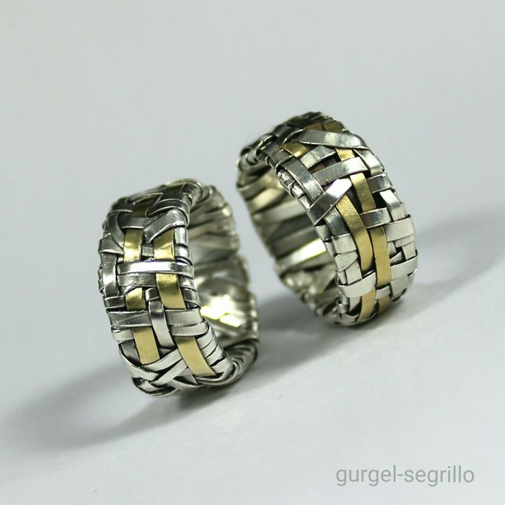 woven series wedding rings handcrafted to order by gurgel-segrillo #LoveIsLove
