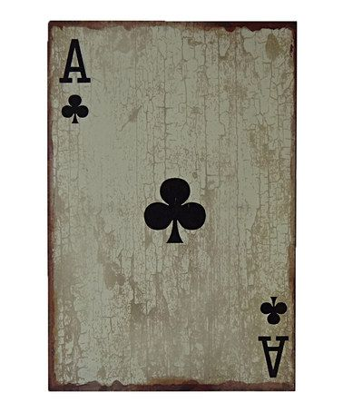 Look what I found on #zulily! Black Ace of Clubs Wall Art #zulilyfinds