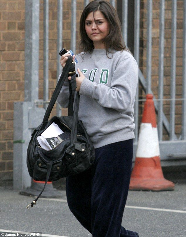 A distinctly less glamorous Jenna Coleman pictured on her way into the Emmerdale set in 2008