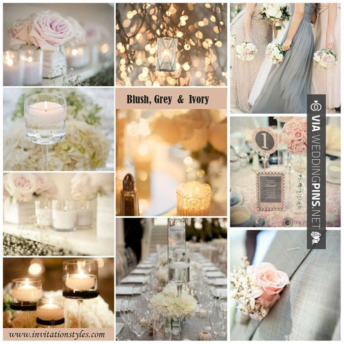 49 best wedding themes images on pinterest wedding colors wedding wedding colour schemes 2017 blushgrey and ivory wedding color junglespirit Image collections