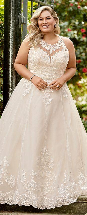 cd05ccf3c54 ... wedding dress plus size silver. Plus Size Y11948 McKenna by Sophia Tolli