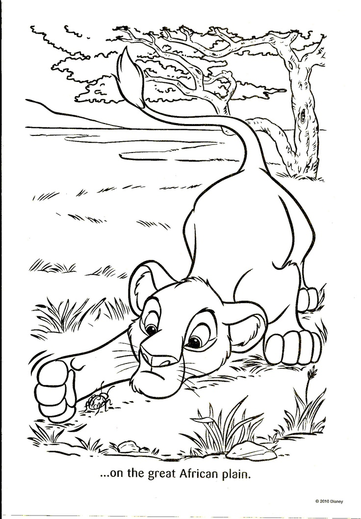 58 best images about Coloring PagesLineArtDisney Lion