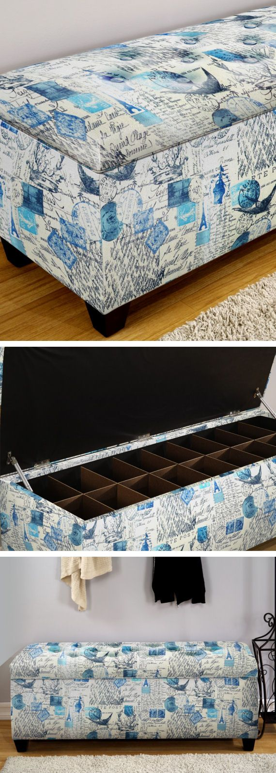 upholstered shoe storage bench love the design u0026 color