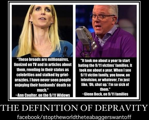 For the Ann Coulter quote, go here: http://thinkprogress.org/politics/2006/06/06/5655/coulter-911/     And for Glen Beck's quote, go here:   http://www.godlikeproductions.com/forum1/message1632809/pg1Republican Attack, Anti Gop, Politics Incline, Evil, Progress Activities, Liberal Heroes, Stupid People, Pay Attention, Blue 2014