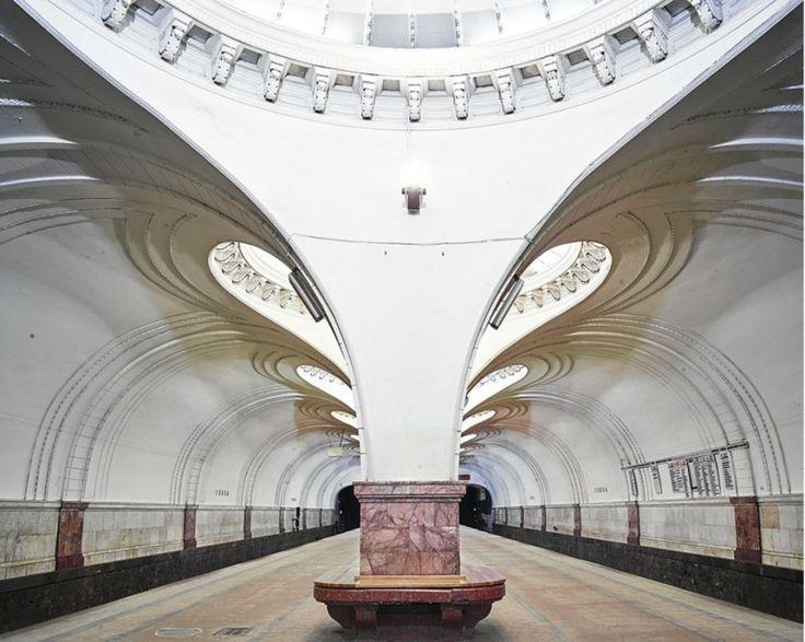 Moscow Underground, Sokol station by David Burdeny