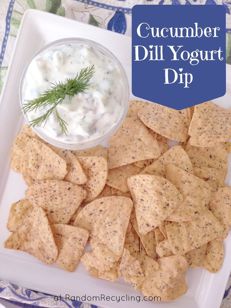 Easy and healthy recipe for Cucumber Dill Yogurt Dip. Perfect for a party appetizer.