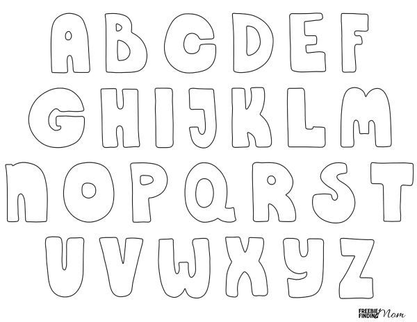 Free Printable Bubble Letters Crafts For Kids Bubble Letters