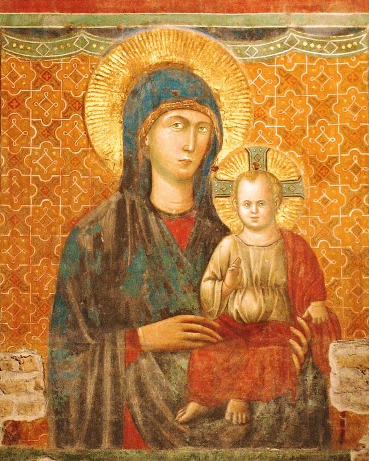 Pietro Cavallini: The Most Holy Mother of God  (Basilica di Santa Maria in Ara Coeli, Roma, ITALY, late 13th century)