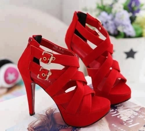 Hot red heels put this on with the right outfit and top it off with a nice hairdo! :)