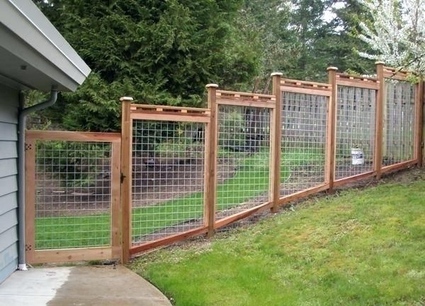 How To Build A Fence On A Slope How To Install Welded Wire Fence On A Slope New Best Garden Fence Images On Building Fie Backyard Fences Fence Design Diy Fence