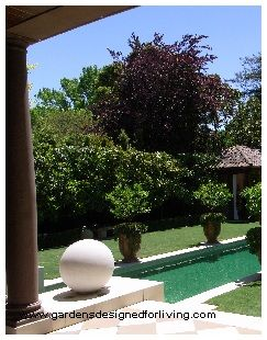 The formal pool at the back is stunning.
