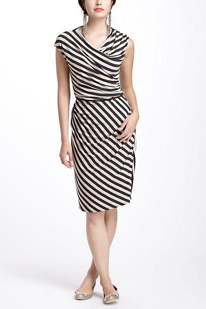 I'm addicted to stripes!    Given Then Gathered Column Dress #anthropologie