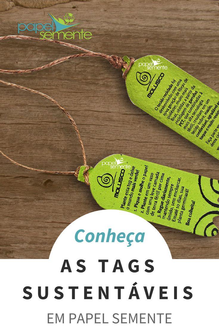 a1c990144d As tags e etiquetas sustentáveis que viram plantas e hortaliças para  clientes. Confira ideias de