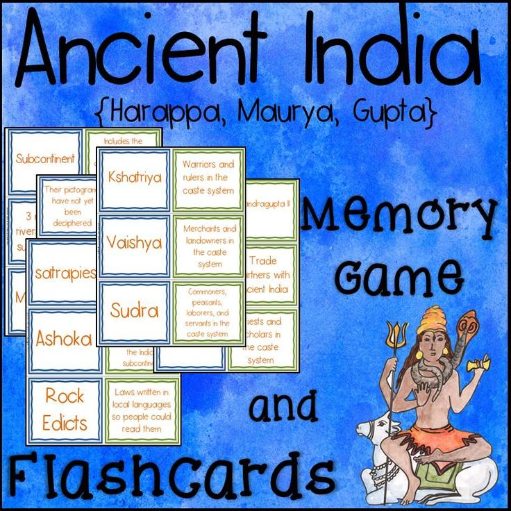ancient india memory game and flashcards harappa maurya gupta buddhism memories and. Black Bedroom Furniture Sets. Home Design Ideas