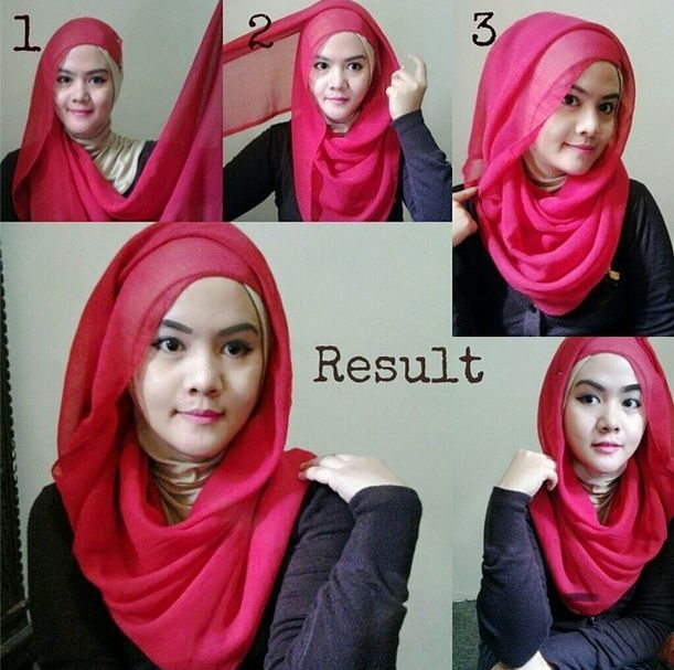 Segi Empat Hijab Tutorial Full of Fashion 2016-17