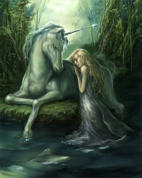It is said that beautiful maids can tame the wild unicorn