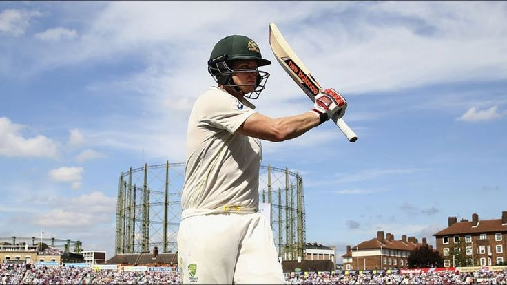 Stive Smith introducing his new bat  before The Ashes series 2017