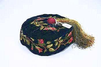 A Victorian Period Velvet Smoking Cap
