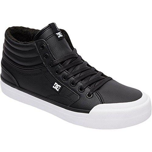 DC Shoes Evan Hi WNT, Zapatillas para Mujer, Negro (Black/White/Black), 39 EU