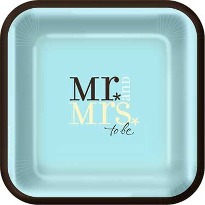 Mr and Mrs to Be Wedding Engagement 10 Inch Paper Plates Pack)  sc 1 st  Pinterest : engagement paper plates - Pezcame.Com