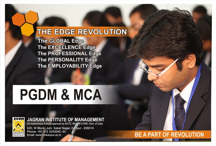 Jagran Institute of Management established in 2006 is an autonomous Institute approved by All India Council for Technical Education (AICTE), Ministry of HRD, and Govt. of India- New Delhi, affiliated to U.P Technical University (UPTU) offering two years full time Post Graduate Diploma in Management (PGDM) and three years full time Masters in Computer Applications (MCA) programs.
