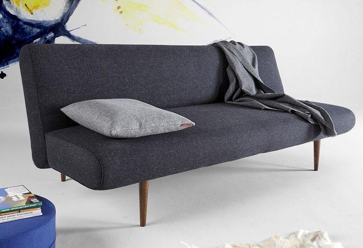 Innovation Unfurl sovesofa – Sort - Unfurl sovesofa i tidsløst og klassisk design. Denne elegante sovesofa fra Innovation er den perfekte gæsteseng, og den har plads til 2 personer. Betrækket er i en smuk mørk grå, næsten sort farve.