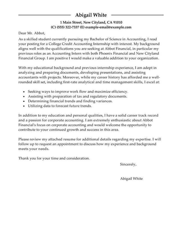 30+ Cover Letter Examples For Internship | letters | Cover