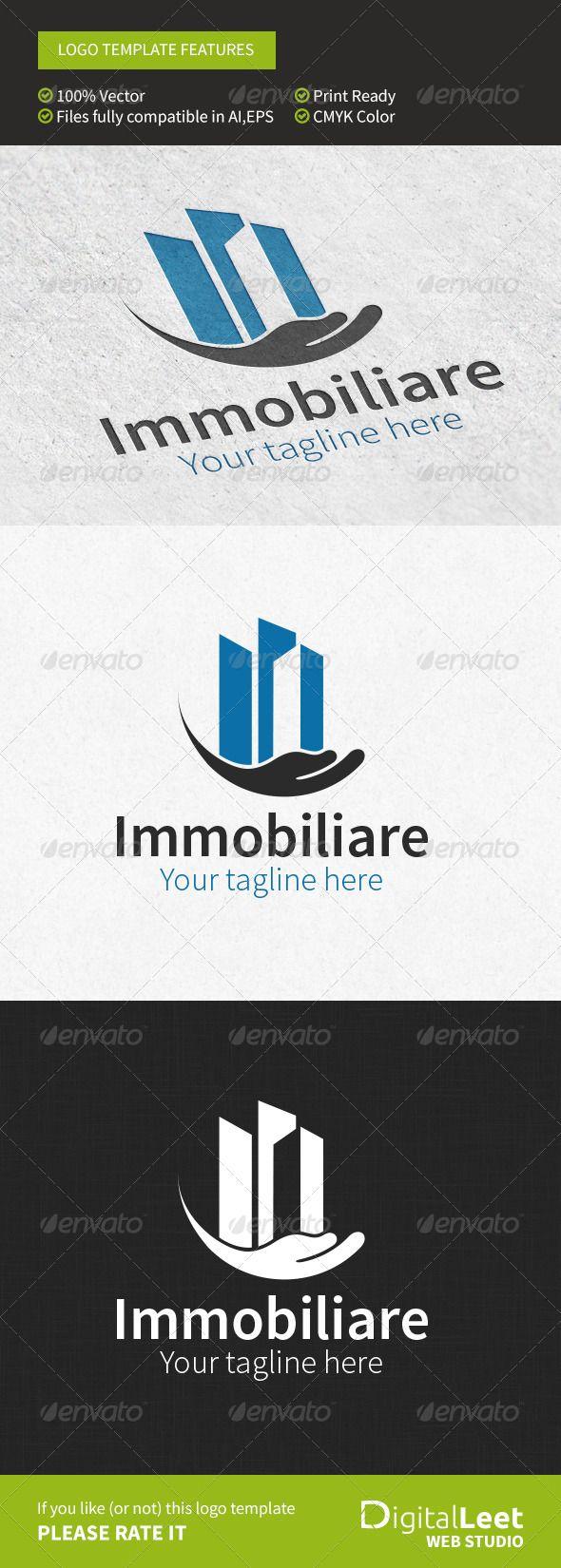 Immobiliare Real Estate Logo Design Template Vector #logotype Download it here:  http://graphicriver.net/item/immobiliare-real-estate-logo-template/8746184?s_rank=433?ref=nesto