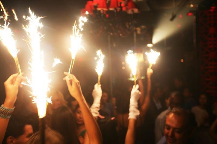 Champagne Bottle Sparklers by ViP Sparklers!  So cool and great for all events!
