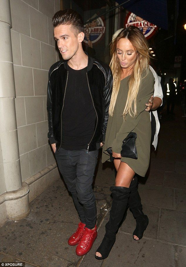 Caught out: The on-off love birds were pictured leaving DSTRKT nightclub hand-in-hand in the early hours of Wednesday morning