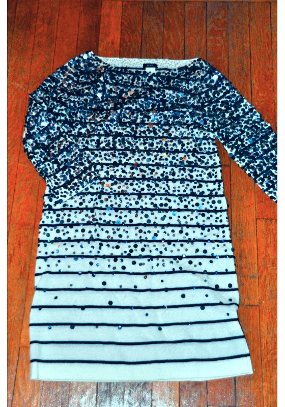 J. Crew Nautical Sequin Sweater Dress - Small $200.00