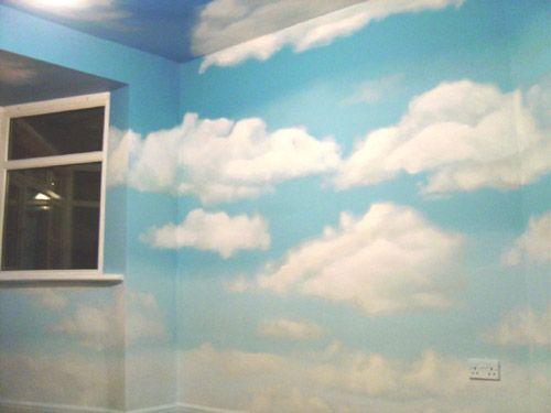 Cloud Mural. Mural WallNursery Wall MuralsKids ... Part 74