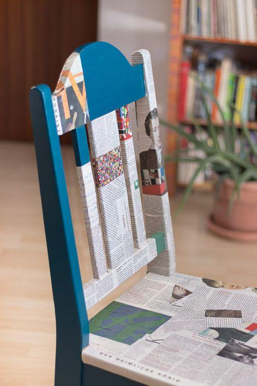 Serviettentechnik auf Möbel – Stuhl kreativ gestaltet * Anleitung *