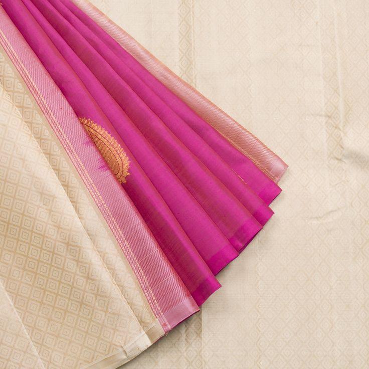 Kanakavalli Handwoven Kanjivaram Silk Sari 1001827 - Parisera