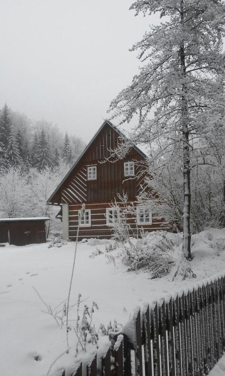 Pohádková zima VANOCE a v naší roubence Petře :: Ubytování Orlické hory