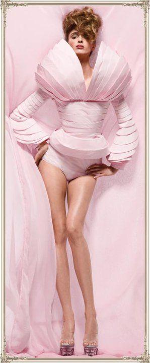 Pink toilet paper fashion