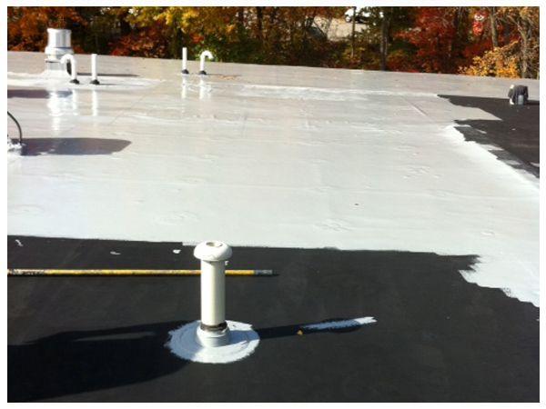Apply 1 Coat Of Epdm Liquid Rubber Roof Coating Get 25 Year Relief Designs