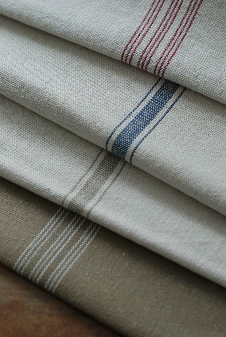 Feed Sack Fabric by the Yard, Feedsack Fabric make from drop cloth and paint stripes