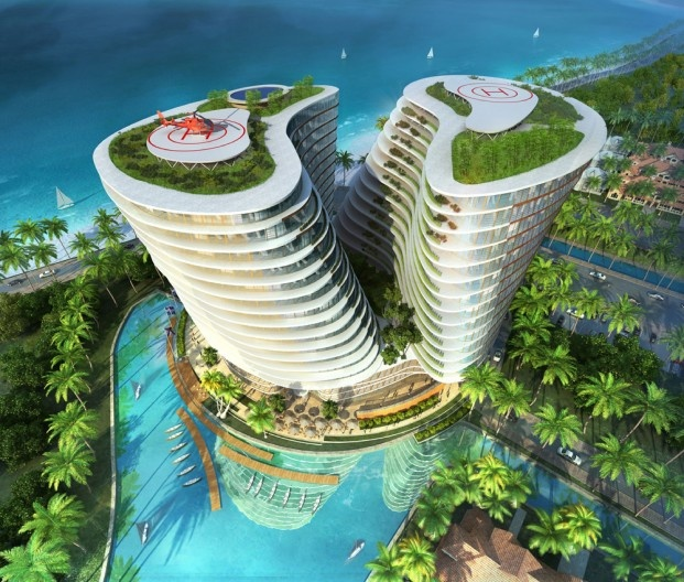 green office building. Agung Sedayu Center - This Sustainable Office Building Is Located In Jakarta, Indonesia. Green U