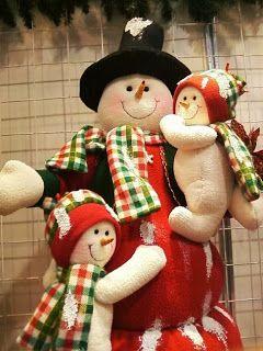 Moldes Para Artesanato em Tecido: Boneco de neve com molde