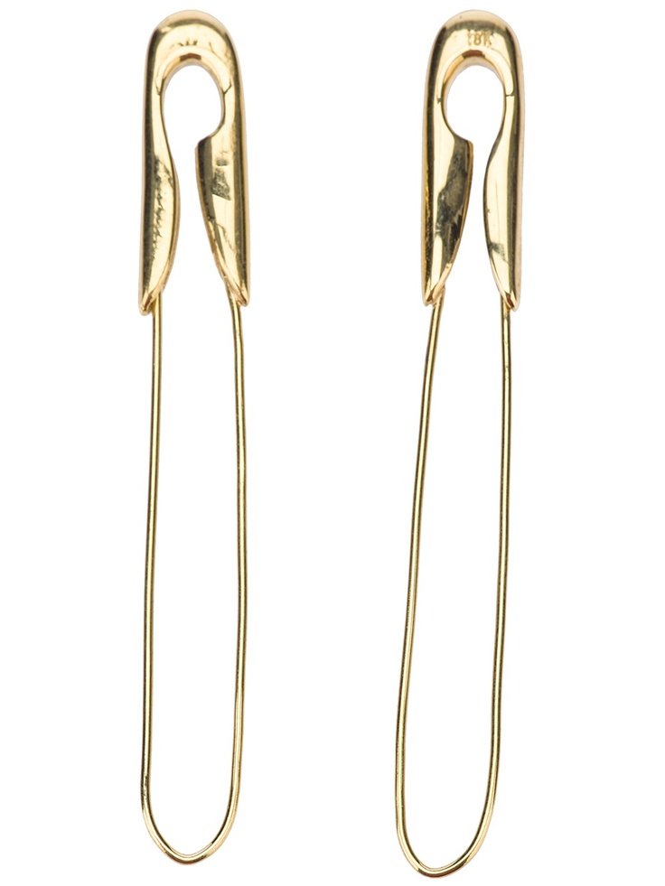 Tom Binns Large Safety Pin Earrings - Uzerai - Farfetch.com