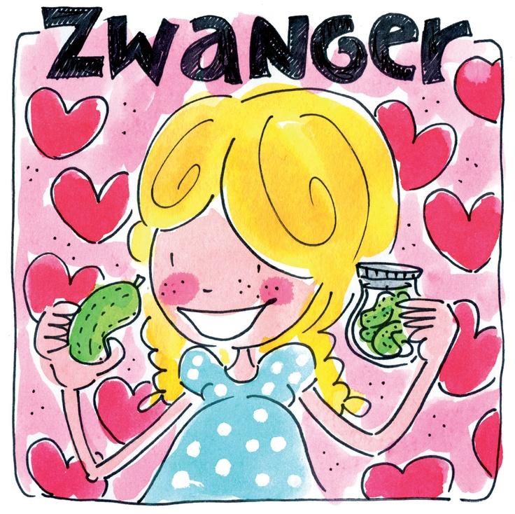 Is een vriendin, je dochter of de buurvrouw zwanger? Dan is het altijd leuk om haar te verrassen met een leuke kaart! > Zwanger kaart van Blond Amsterdam