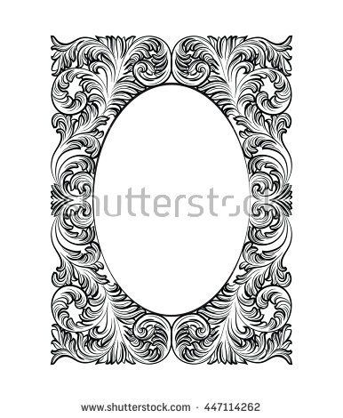 Image result for rococo silhouette frame